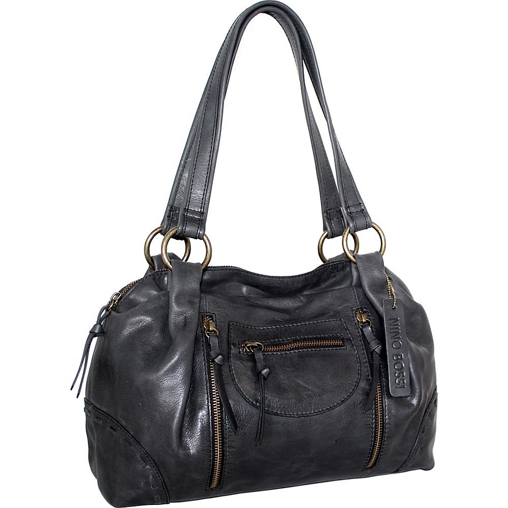 Nino Bossi Francisca Satchel Black - Nino Bossi Leather Handbags - Handbags, Leather Handbags