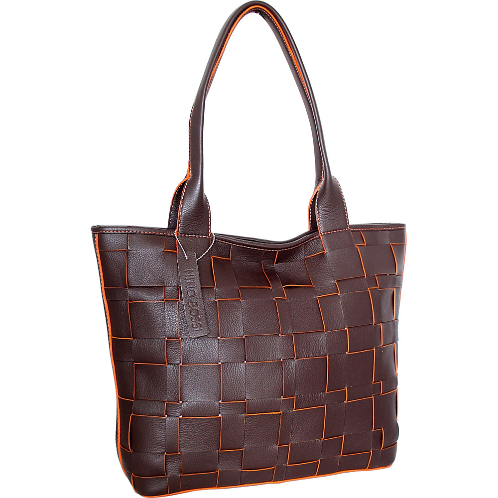 Nino Bossi Tyra Tote Chocolate - Nino Bossi Leather Handbags - Handbags, Leather Handbags