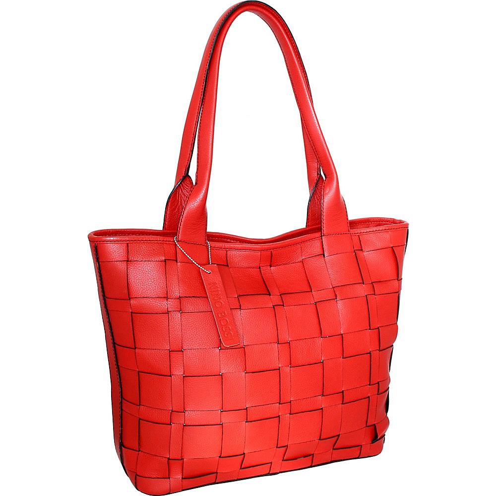 Nino Bossi Tyra Tote Red - Nino Bossi Leather Handbags - Handbags, Leather Handbags