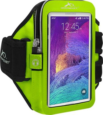 Armpocket XTREME i-30 armband for iPhone 6/6s/5, Samsung Galaxy S7/S6, or devices up to 5 inch. Medium Strap Length. Yellow - Armpocket Electronic Cases