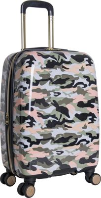 Aimee Kestenberg Sergeant 20 inch Hardside Carry-On Spinner Green Camo - Aimee Kestenberg Hardside Carry-On