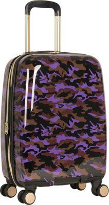 Aimee Kestenberg Sergeant 20 inch Hardside Carry-On Spinner Purple Camo - Aimee Kestenberg Hardside Carry-On
