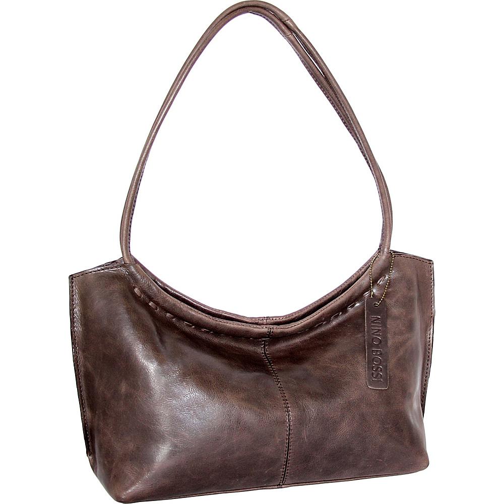 Nino Bossi Summer Shoulder Bag Chocolate - Nino Bossi Leather Handbags - Handbags, Leather Handbags