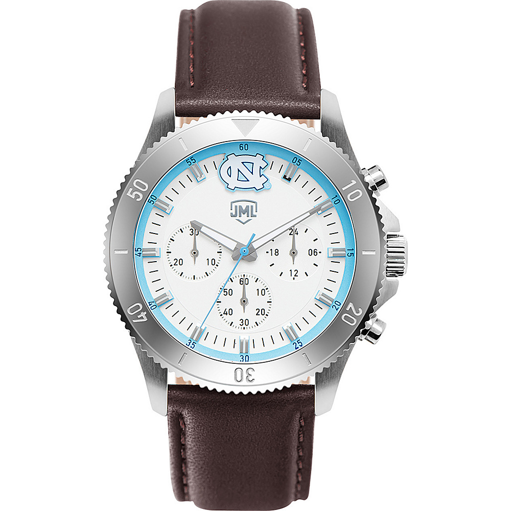 Jack Mason League Mens NCAA Chronograph Leather Strap Watch North Carolina - Jack Mason League Watches - Fashion Accessories, Watches