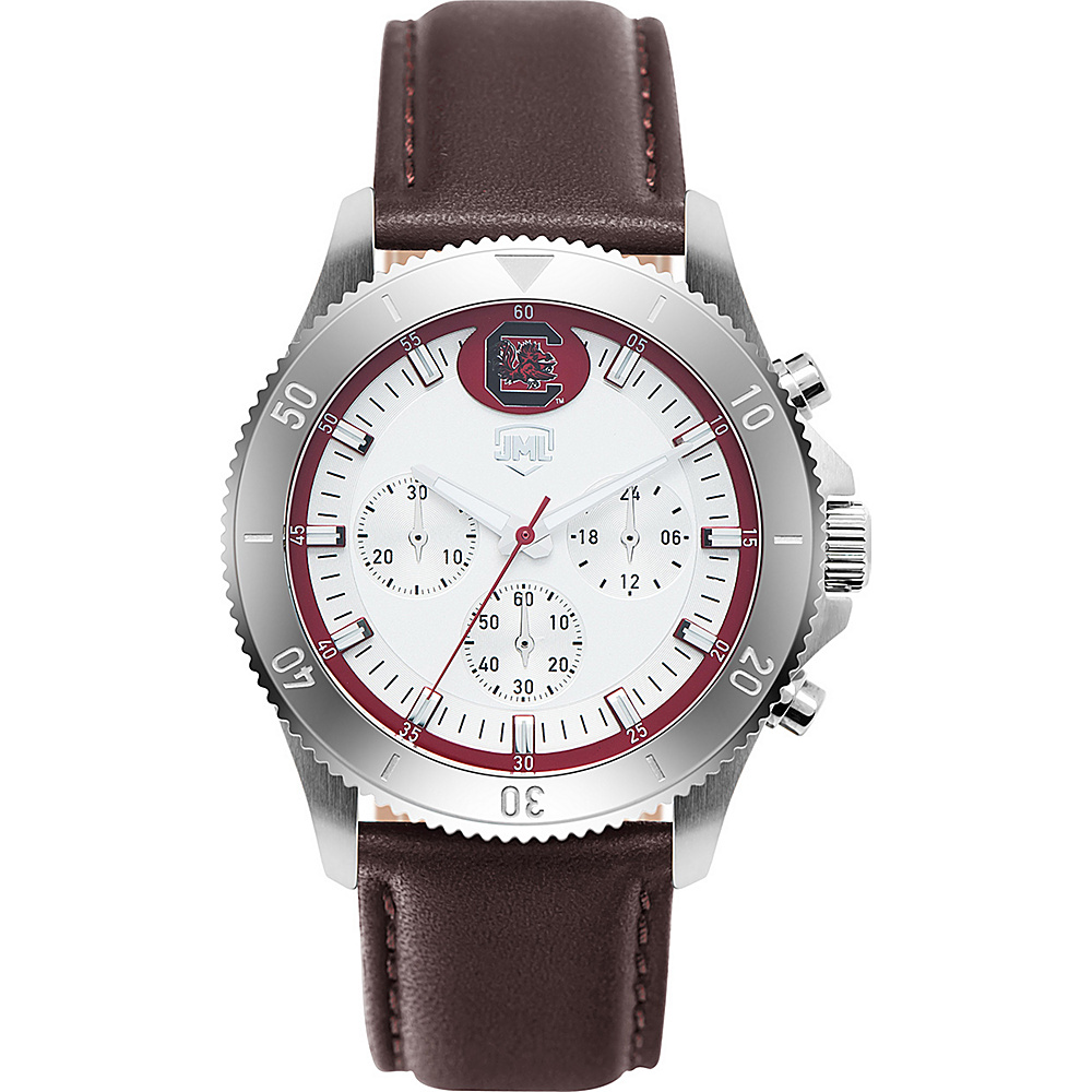 Jack Mason League Mens NCAA Chronograph Leather Strap Watch South Carolina - Jack Mason League Watches - Fashion Accessories, Watches