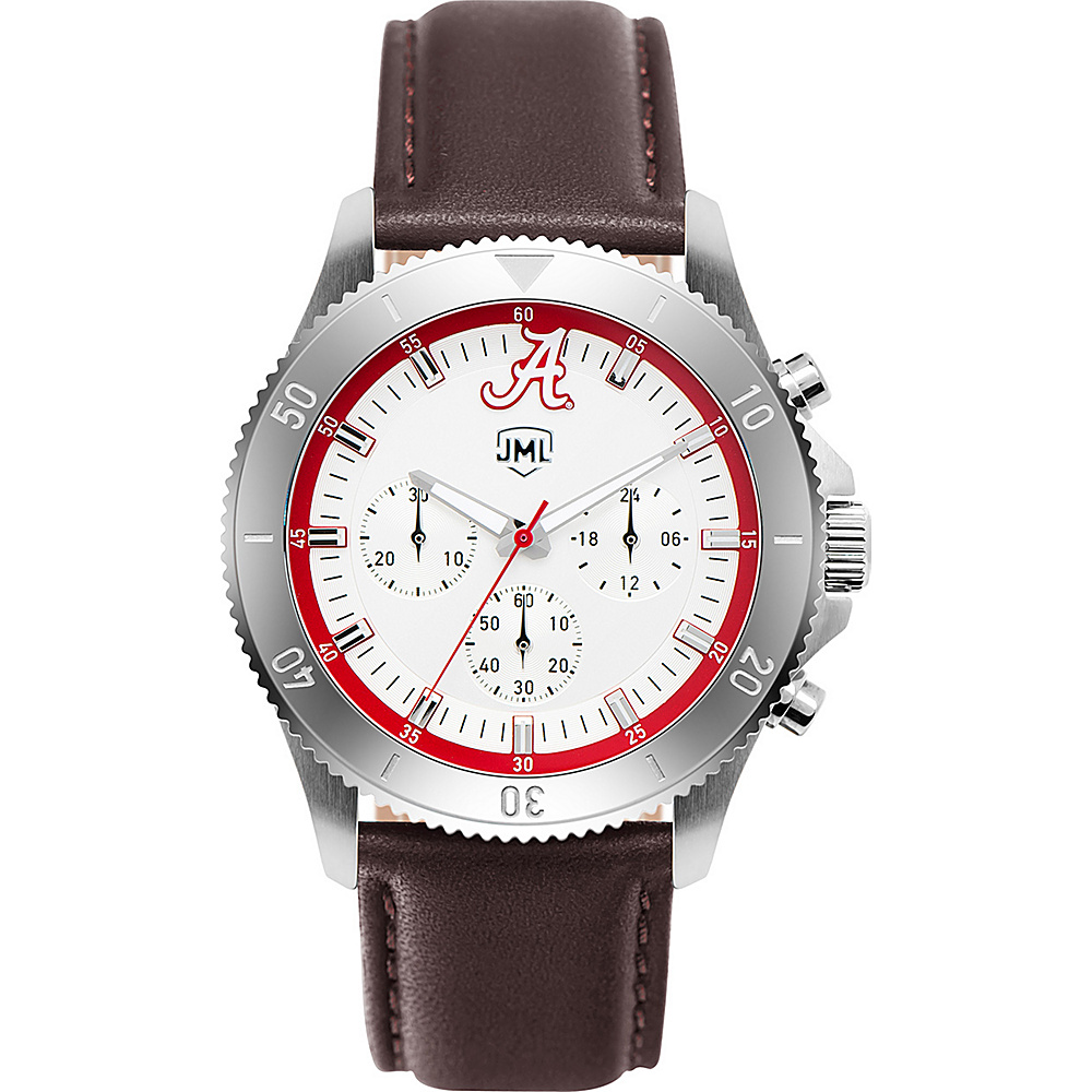 Jack Mason League Mens NCAA Chronograph Leather Strap Watch Alabama - Jack Mason League Watches - Fashion Accessories, Watches