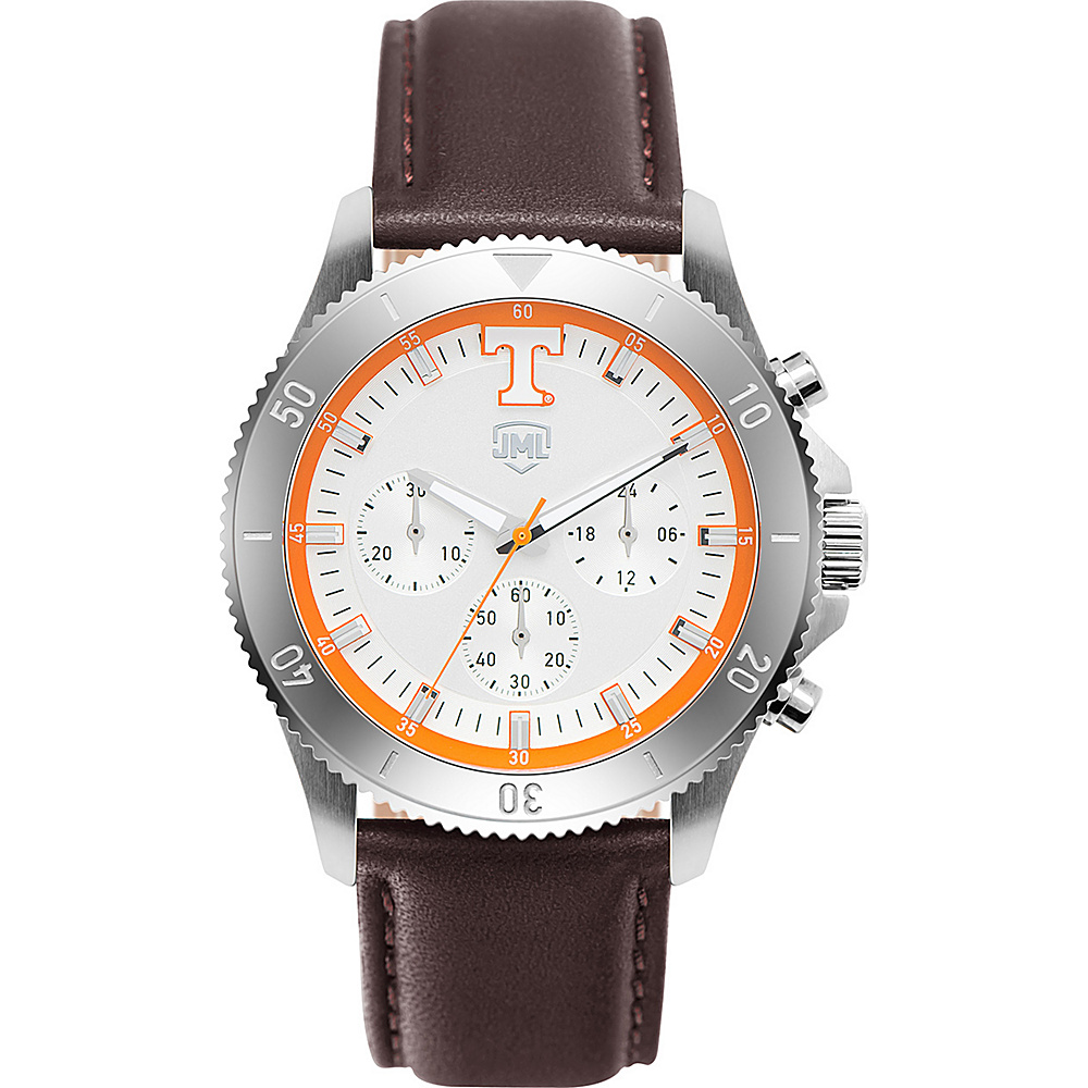 Jack Mason League Mens NCAA Chronograph Leather Strap Watch Tennessee - Jack Mason League Watches - Fashion Accessories, Watches