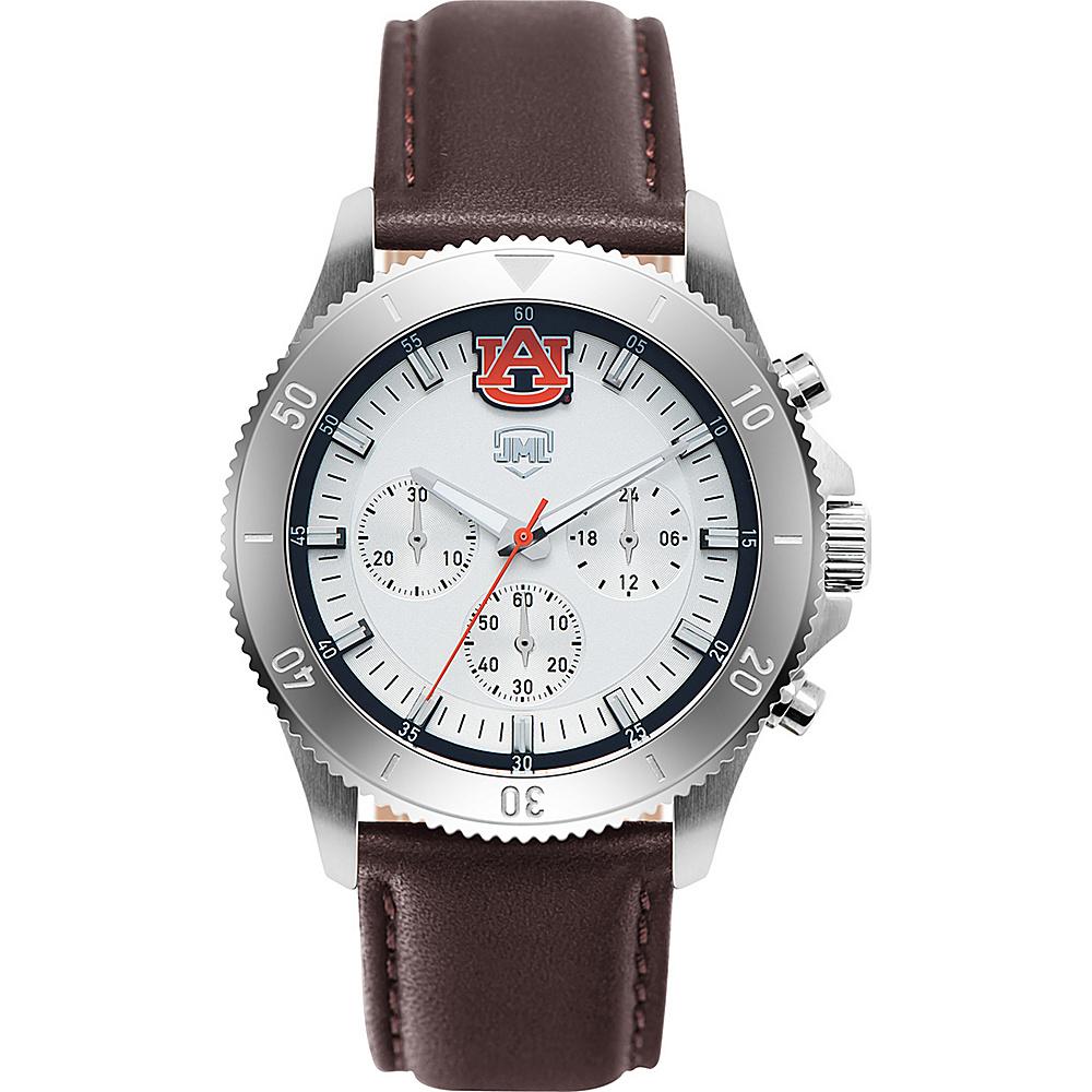 Jack Mason League Mens NCAA Chronograph Leather Strap Watch Auburn - Jack Mason League Watches - Fashion Accessories, Watches