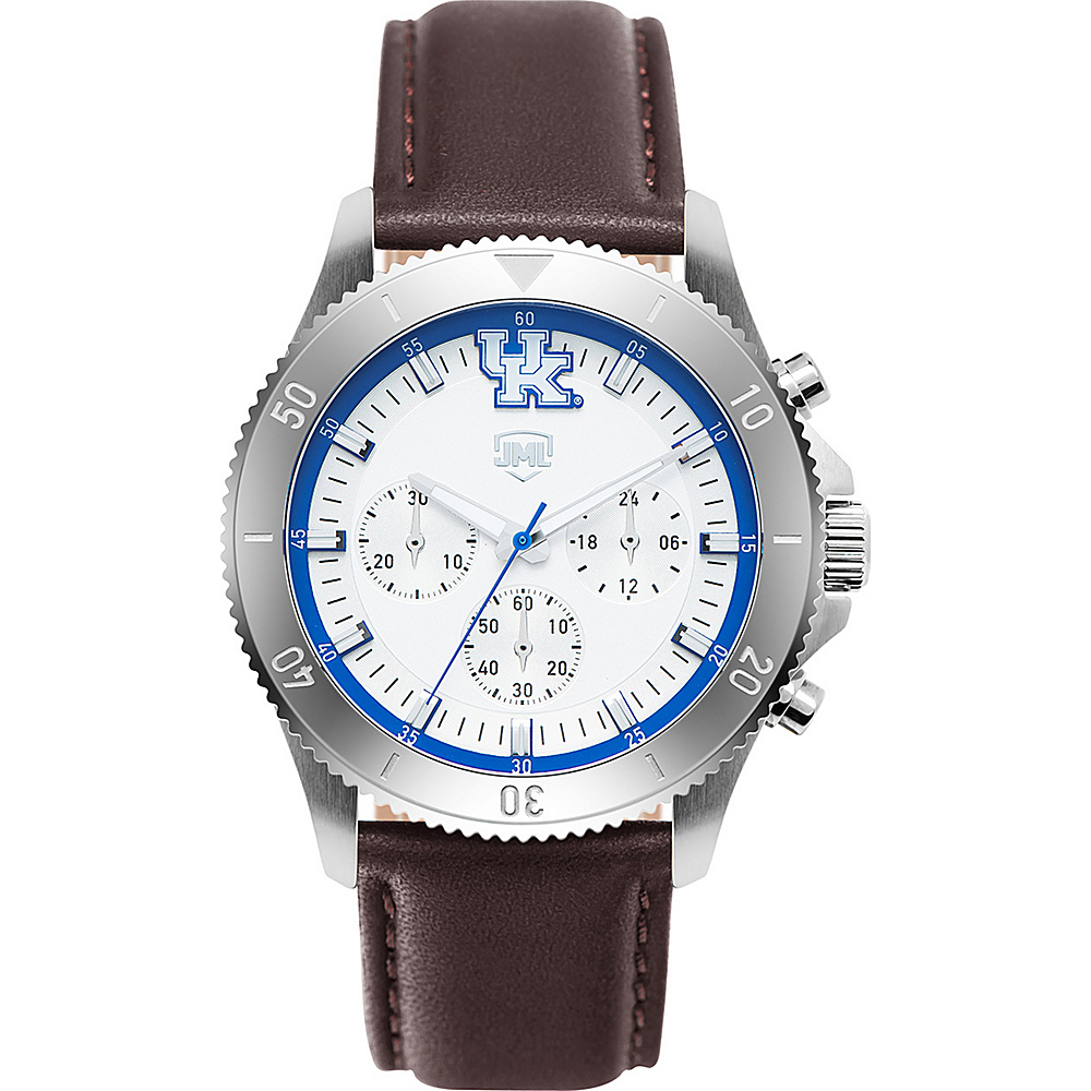 Jack Mason League Mens NCAA Chronograph Leather Strap Watch Kentucky - Jack Mason League Watches - Fashion Accessories, Watches
