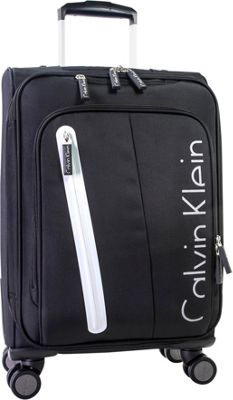 Calvin Klein Luggage Whitehall 4.0 22.5 inch Expandable Carry-On Spinner Luggage Black - Calvin Klein Luggage Kids' Luggage