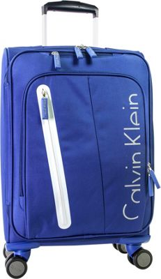 Calvin Klein Luggage Whitehall 4.0 22.5 inch Expandable Carry-On Spinner Luggage Blue - Calvin Klein Luggage Kids' Luggage