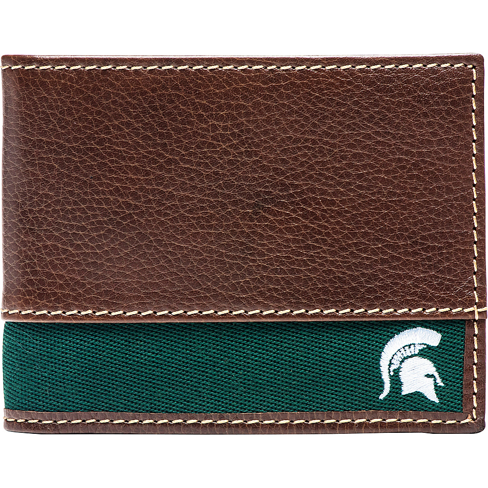 Jack Mason League NCAA Alumni Slim Bifold Wallet Michigan State - Jack Mason League Mens Wallets - Work Bags & Briefcases, Men's Wallets