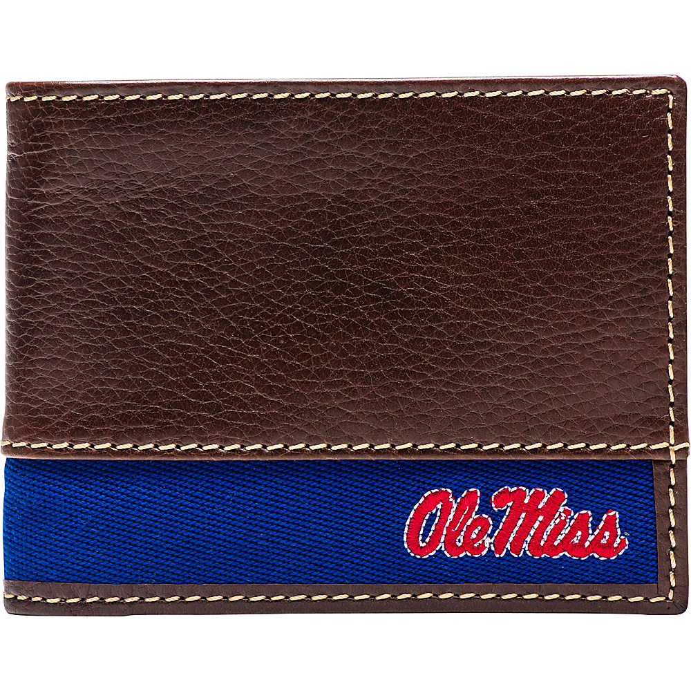 Jack Mason League NCAA Alumni Slim Bifold Wallet Ole Miss - Jack Mason League Mens Wallets - Work Bags & Briefcases, Men's Wallets