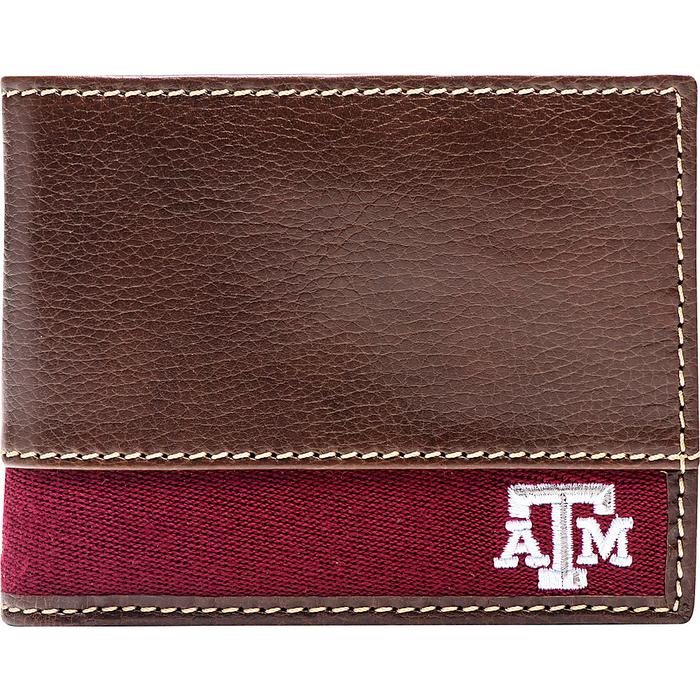 Jack Mason League NCAA Alumni Slim Bifold Wallet Texas A&M - Jack Mason League Mens Wallets - Work Bags & Briefcases, Men's Wallets