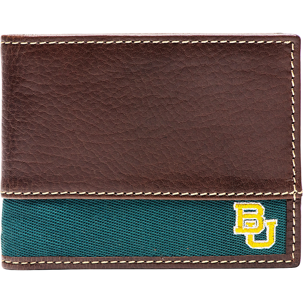 Jack Mason League NCAA Alumni Slim Bifold Wallet Baylor - Jack Mason League Mens Wallets - Work Bags & Briefcases, Men's Wallets