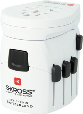 SKROSS Pro-World Travel Adaptor Plus USB White - SKROSS Electronic Accessories