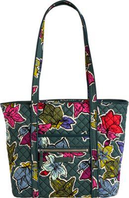 Vera Bradley Iconic Small Vera Tote Falling Flowers - Vera Bradley Fabric Handbags
