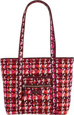 Vera Bradley Iconic Small Vera Tote Houndstooth Tweed - Vera Bradley Fabric Handbags