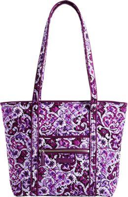 Vera Bradley Iconic Small Vera Tote Lilac Paisley - Vera Bradley Fabric Handbags