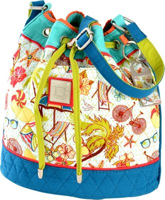 Inky & Bozko Beachy Keen Drawstring Bucket Tote Beachy Keen - Inky & Bozko Leather Handbags