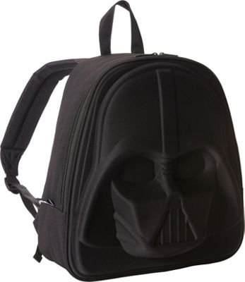 Loungefly Darth Vader 3D Molded Laptop Backpack Black - Loungefly Laptop Backpacks