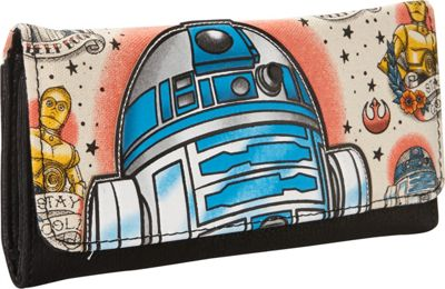 Loungefly Star Wars R2D2 Tattoo Applique Wallet Tan/Multi - Loungefly Women's Wallets