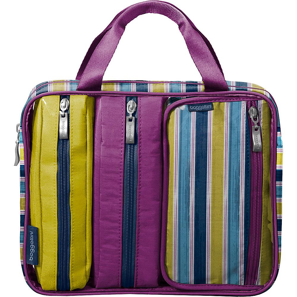 baggallini Travel Trio - Retired Colors Tropical Stripe - baggallini Toiletry Kits - Travel Accessories, Toiletry Kits