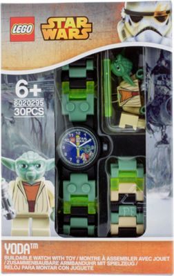LEGO Watches Star Wars Yoda Kids Buildable Watch with Link Bracelet and Minifigure Green/Black - LEGO Watches Watches