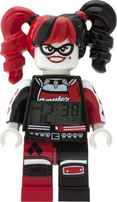 LEGO Watches Batman Movie Harley Quinn Minifigure Light Up Alarm Clock Red/Black - LEGO Watches Travel Electronics