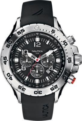 Nautica Watches Mens NST Chronograph Watch Black - Nautica Watches Watches