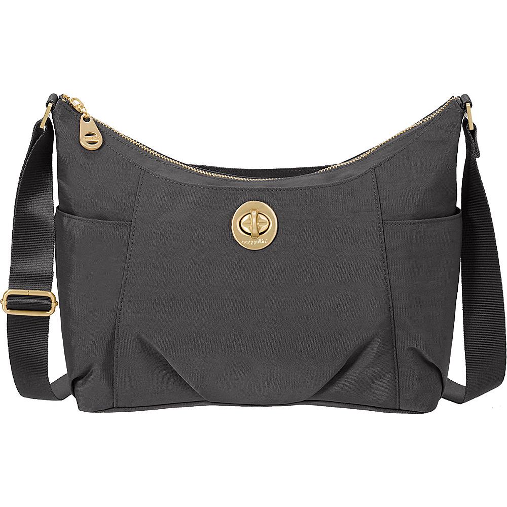 baggallini Bahia Hobo Charcoal - baggallini Fabric Handbags - Handbags, Fabric Handbags