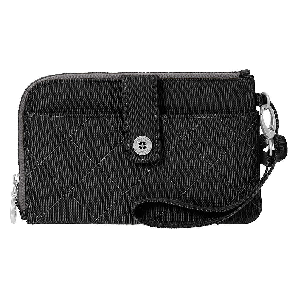 baggallini RFID Passport & Phone Wristlet Black/Charcoal - baggallini Travel Wallets - Travel Accessories, Travel Wallets