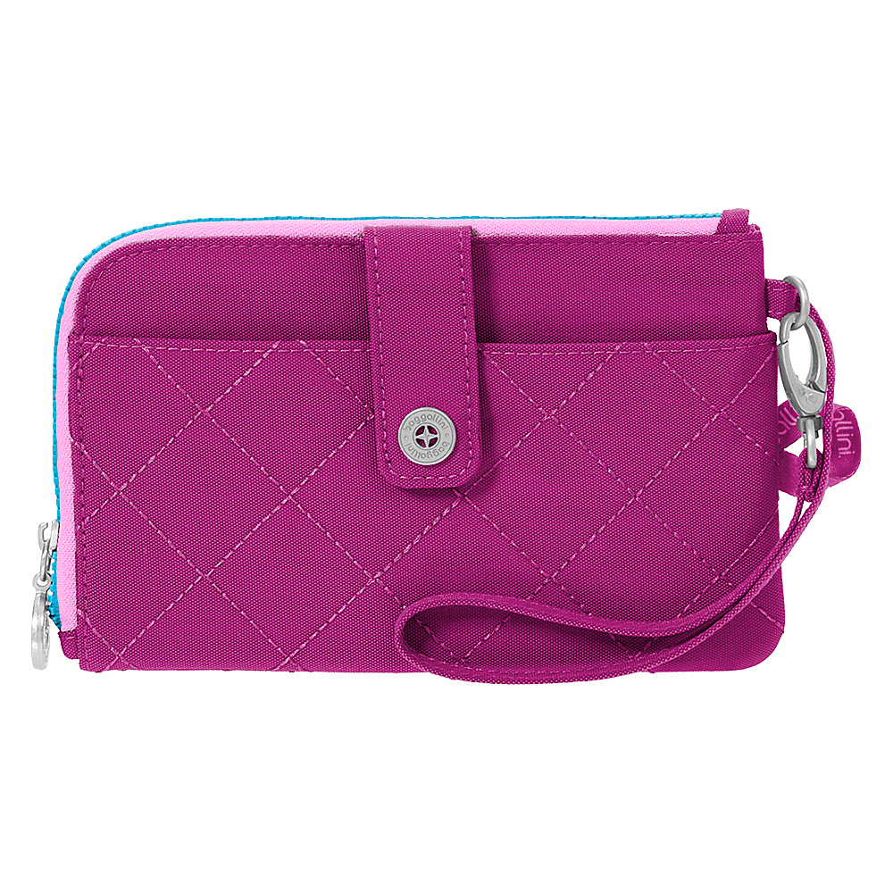 baggallini RFID Passport & Phone Wristlet Fuchsia/Pink - baggallini Travel Wallets - Travel Accessories, Travel Wallets