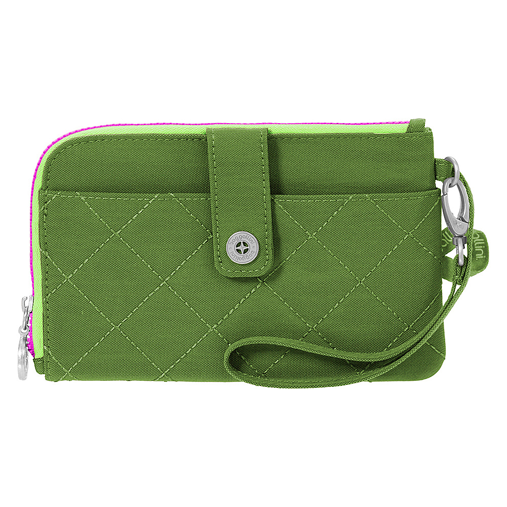 baggallini RFID Passport & Phone Wristlet Green/Kiwi - baggallini Travel Wallets - Travel Accessories, Travel Wallets