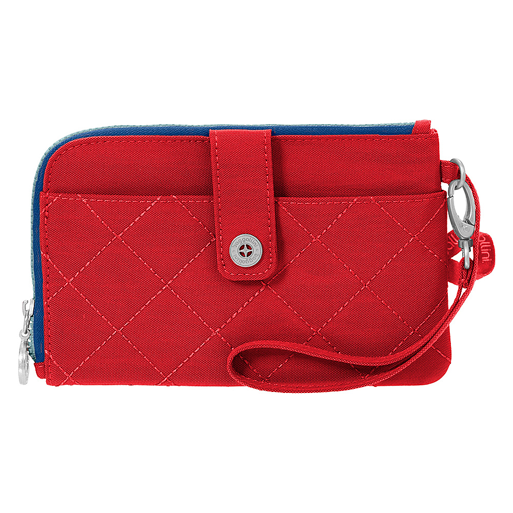 baggallini RFID Passport & Phone Wristlet Red/Navy - baggallini Travel Wallets - Travel Accessories, Travel Wallets