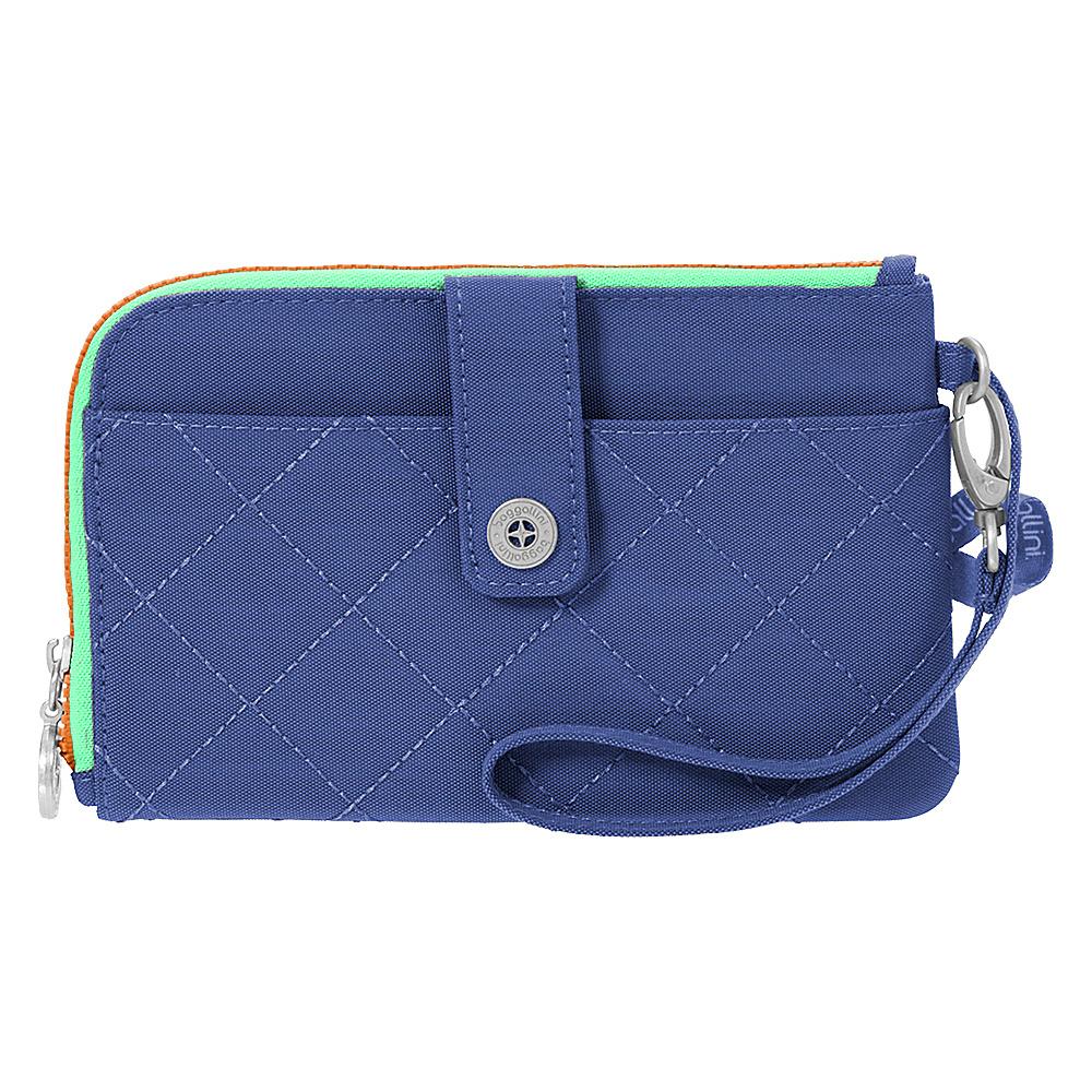 baggallini RFID Passport & Phone Wristlet Royal Blue/Mint - baggallini Travel Wallets - Travel Accessories, Travel Wallets