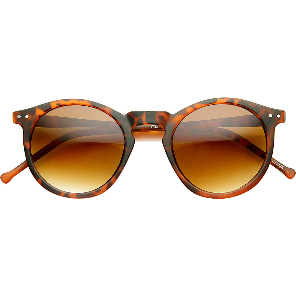 SW Global Eddy Round Fashion Sunglasses Leopard-Amber - SW Global Eyewear - Fashion Accessories, Eyewear