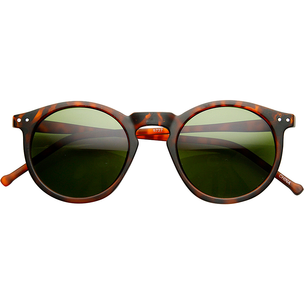 SW Global Eddy Round Fashion Sunglasses Leopard-Green - SW Global Eyewear - Fashion Accessories, Eyewear