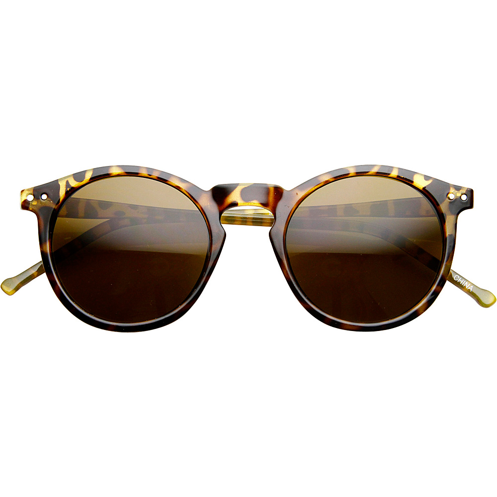SW Global Eddy Round Fashion Sunglasses Yellow-Leopard - SW Global Eyewear - Fashion Accessories, Eyewear