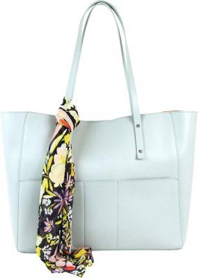 Emilie M Kata Double Shoulder Tote Sea Green - Emilie M Manmade Handbags