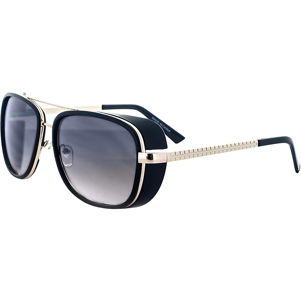 SW Global Designer Dapper Frame Metal Horned Rim UV400 Sunglasses Black Gold - SW Global Eyewear - Fashion Accessories, Eyewear