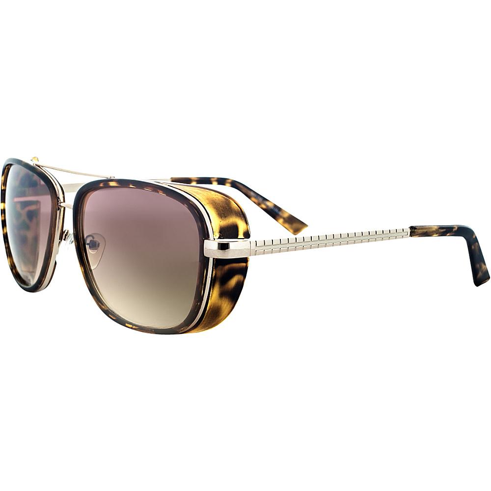 SW Global Designer Dapper Frame Metal Horned Rim UV400 Sunglasses Brown - SW Global Eyewear - Fashion Accessories, Eyewear