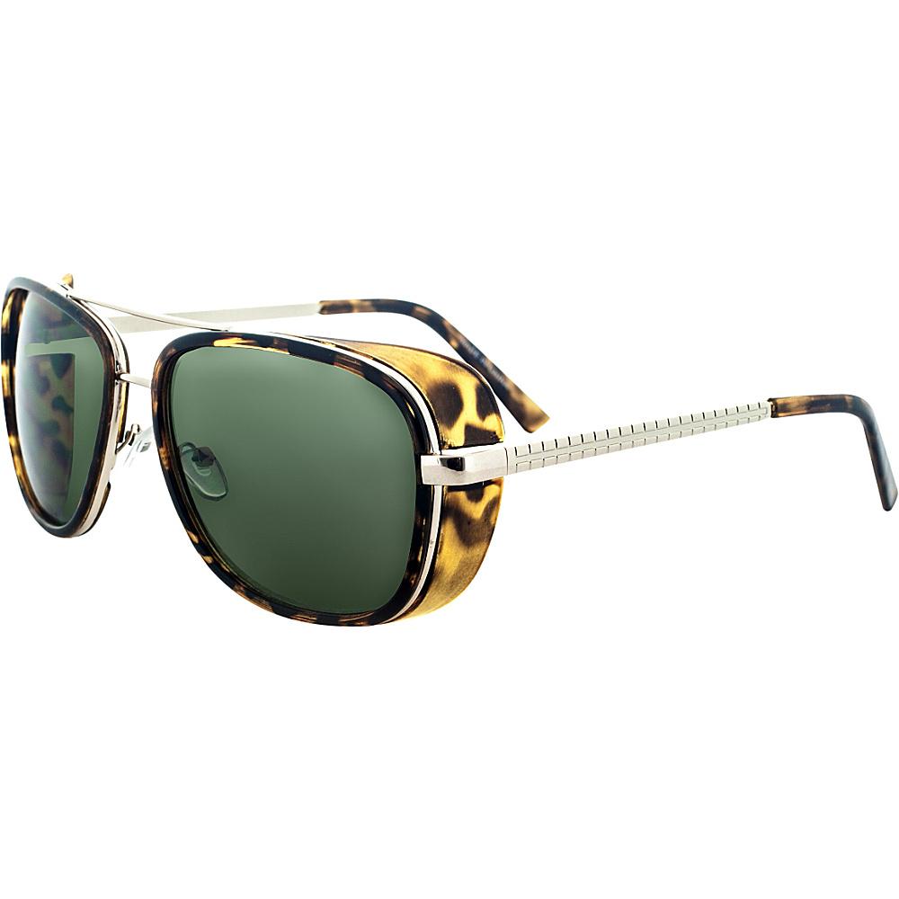 SW Global Designer Dapper Frame Metal Horned Rim UV400 Sunglasses Green - SW Global Eyewear - Fashion Accessories, Eyewear
