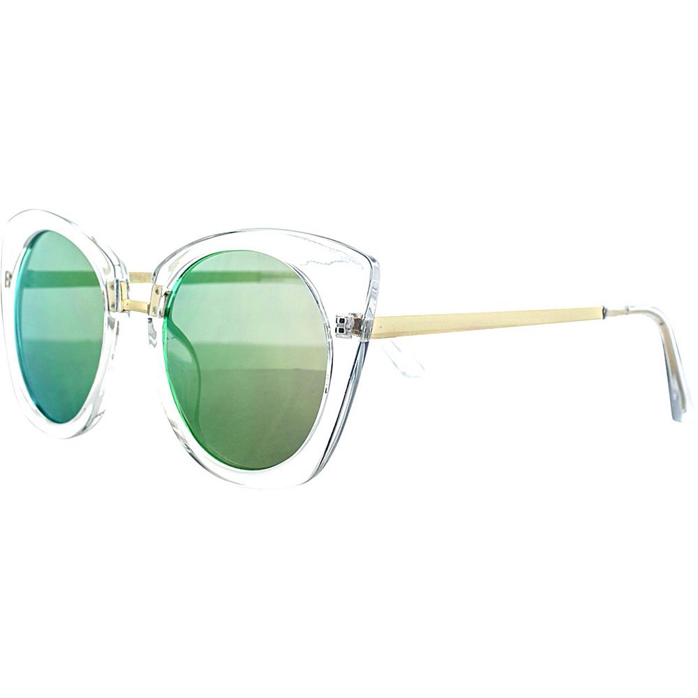 SW Global Classic Double Bridge Aviator UV400 Sunglasses Green Yellow - SW Global Eyewear - Fashion Accessories, Eyewear