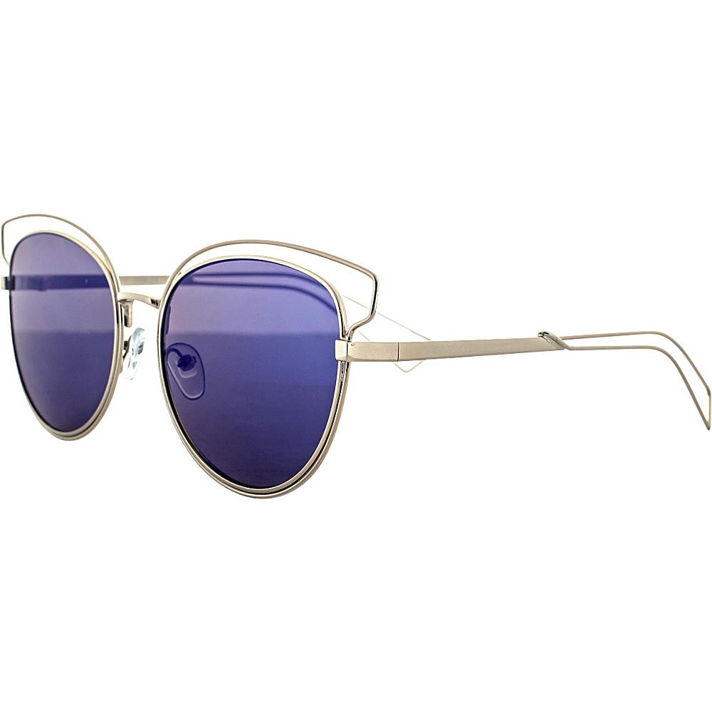 SW Global Double Bridge Round Frame Aviator UV400 Sunglasses Blue - SW Global Eyewear - Fashion Accessories, Eyewear