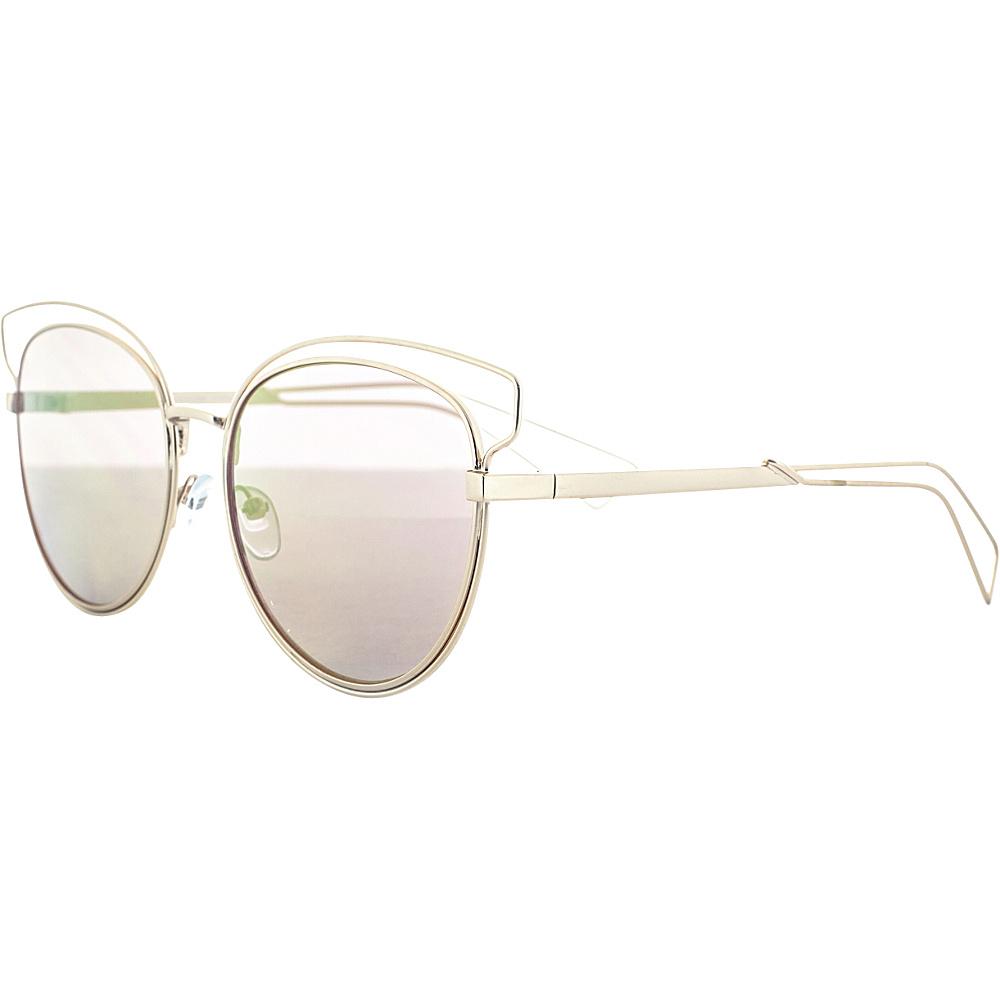 SW Global Double Bridge Round Frame Aviator UV400 Sunglasses Yellow Red - SW Global Eyewear - Fashion Accessories, Eyewear