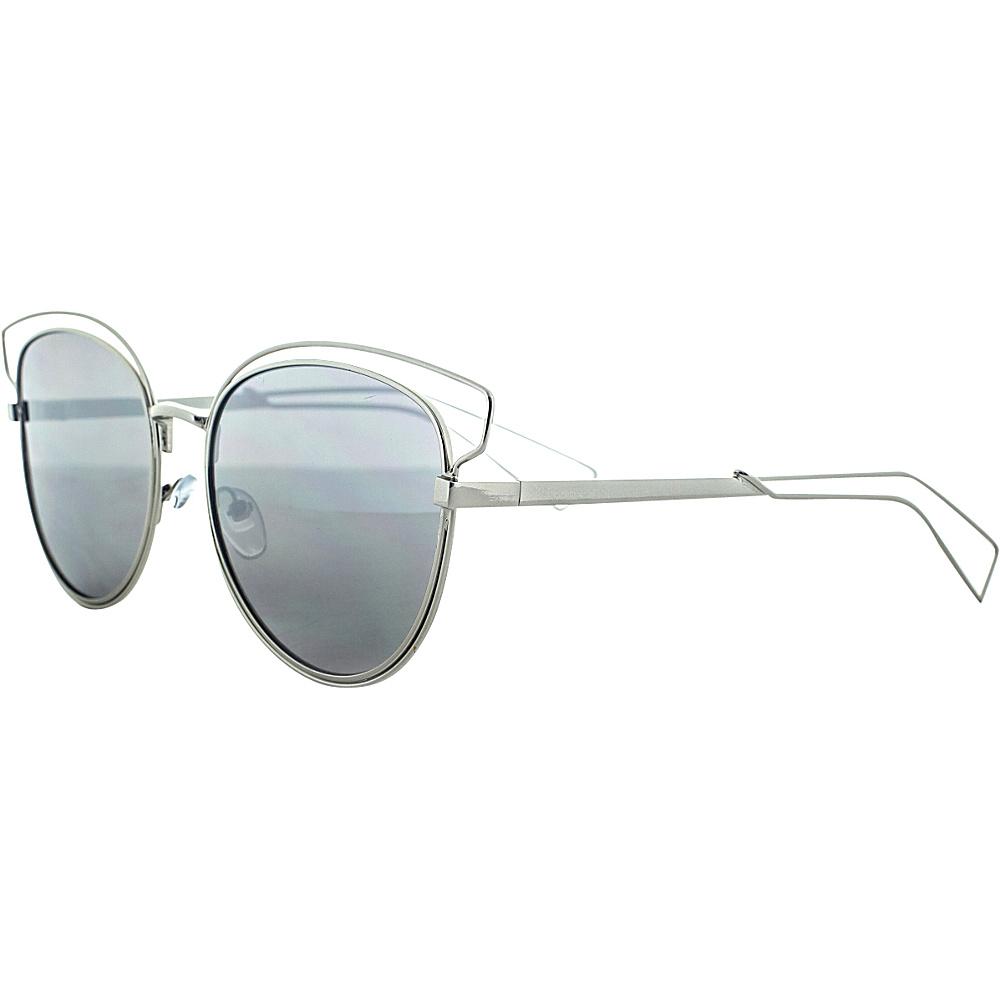 SW Global Double Bridge Round Frame Aviator UV400 Sunglasses Silver - SW Global Eyewear - Fashion Accessories, Eyewear