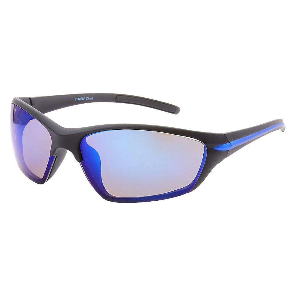 SW Global Full Framed Outdoors Sports UV400 Sunglasses Black Blue Silver Blue - SW Global Eyewear - Fashion Accessories, Eyewear