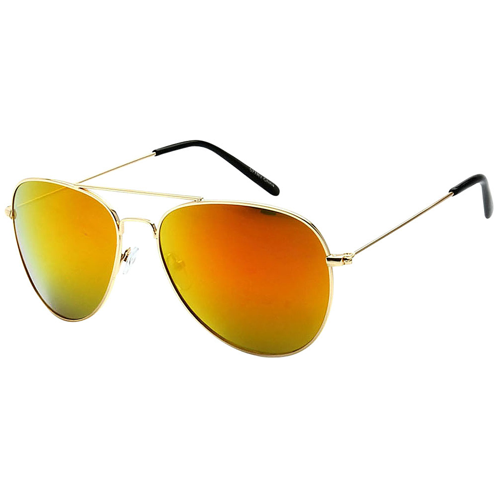 SW Global Classic Unisex Gold Aviator Sunglasses Yellow - SW Global Eyewear - Fashion Accessories, Eyewear