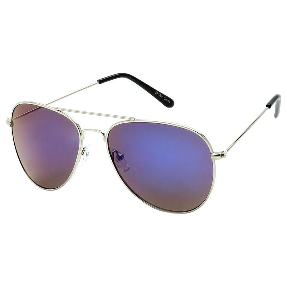 SW Global Classic Unisex Gold Aviator Sunglasses Purple - SW Global Eyewear - Fashion Accessories, Eyewear